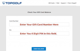check topgolf gift card balance oline