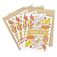 Amazon Com Hallmark Pack Of Thanksgiving Cards Thinking Of You 4