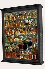 details about small miniature perfume bottle display case shadow box wall cabinet pfcd06