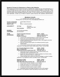Gallery Of Federal Resume Example