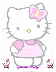 Template Free Printable Hello Kitty Alphabet Letters Stationary
