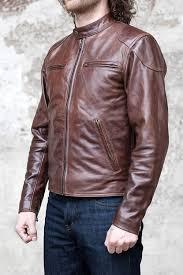 shangri la heritage cafe racer cowhide leather jacket brown 11
