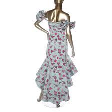 Johanna Ortiz Floral High Low Evening Dress