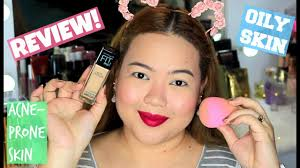 maybelline fit me matte poreless foundation review oily acne e skin philippines