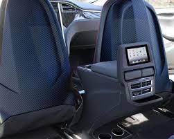 revozport r zentric carbon fiber seat back covers tesla model s