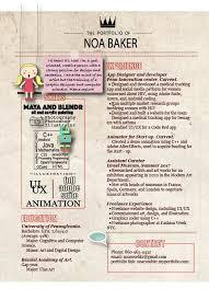 Modern Scientist Resume 2020 Noa Baker Graphic Design Resume