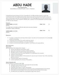 Create My Resume Accounting Assistant With Experience Clerk Without