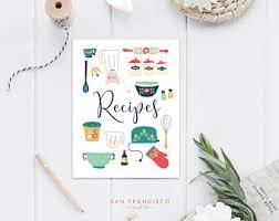 recipes binder cover. Delighful Binder Recipe Binder Cover  US Letter Vintage Kitchen Digital Files   Collection PDF Instant Download For Recipes