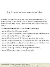 Library Technician Resume And Cover Letter Librarian Format Academic