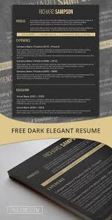 Dark Resume Template Freebie Elegant Dark Grey Resumes Best