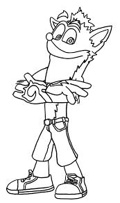 Crash Bandicoot Coloring Sheets Murderthestout