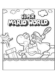 Mario Bros Super Mario World Mario Bros Kleurplaten Kleurplaatcom