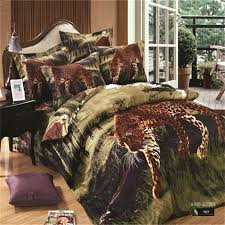 lepord print comforter leopard print bedding set for full queen size jungle animal cheetah cotton duvet cover bed sheets pillow case in bedding sets from
