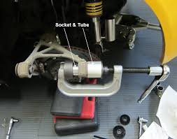 homemade ball joint press. you still need the bushing driver (socket) and receiver tube used with \ homemade ball joint press