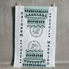 Just Married Tea Towel Owls Relish Decor