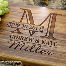 monogram personalized engraved cutting board wedding gift anniversary gifts housewarming gift birthday