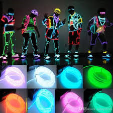 flexible neon light m el wire rope tube controller halloween 1 el wire 1 battery case controller battery not provided