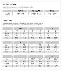 Quacker Factory Size Guide