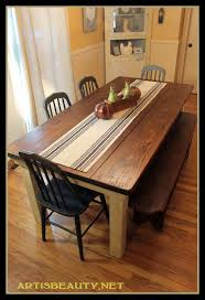 Diy Kitchen Table Remodelaholic Build A Farmhouse Table For Under 100