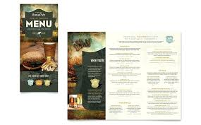 Quad Fold Brochure Template Word Brewery Brew Pub Take Out Brochure Template Word Publisher