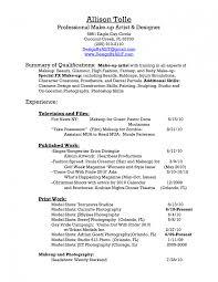 Resume Of Makeup Artist 8 Freelance Sample Mac For Stunning Sevte