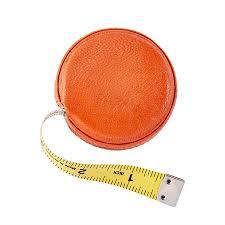 orange goatskin leather tape measure larger photo email a friend