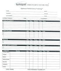 Personal Trainer Workout Plan Template Personal Trainer Fitness Plan