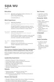 Teaching Assistant Resume Samples Visualcv Resume Samples Database