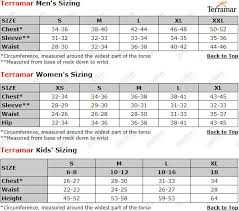Terramar Size Chart Terramar Ecolator Jr Thermal Pants