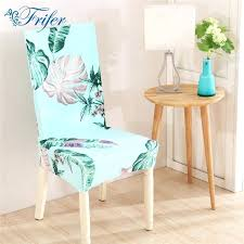 green dining chair covers universal home dining chair cover spandex removable slipcovers stretch elastic tropical green