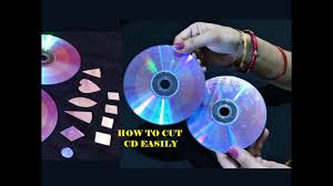 how to cut cd dvd easily for craft 3 easy method cd craft best out of waste