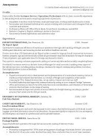 resume examples example of resume profiles resume professional   resume examples operations professional resume example experience as air export agent and profile as