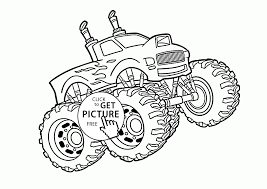 Cool Monster Truck Coloring Page For