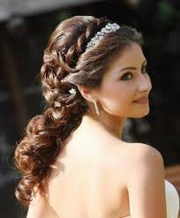 Half Ponytail Hairstyles Updo Hairstyle For Curly Hair Wedding Wedding Hairstyles Ideas