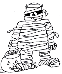 Small Picture Halloween Mummy Coloring Page Free Printable Coloring Pages