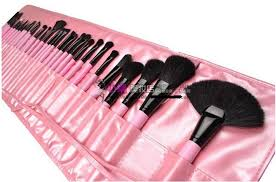 mac makeup pink brushes