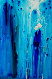 blue painting never alone by sharon mings by sharon mings