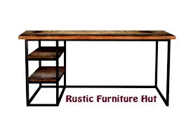 steel office desk. Custom Made Modern Industrial Desk With Shelves, Urban Wood \u0026 Steel Office Desk, Vintage G