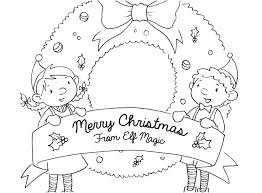 Christmas Elves Colouring Sheets Elf Pages Free Girl Coloring Page 2