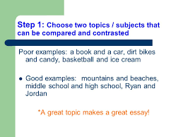 writing a compare and contrast essay in text citations  2 step