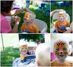 amazing animal face painting at birthday party chicago birthday photography by slumberlandphotography