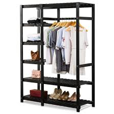Heavy Duty Coat Rack With Shelf Tribesigns Freestanding Closet Organizer Portable Clothes Closet 16