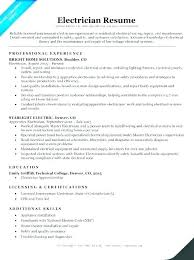 Electrician Resume Example Best Electrician Resume Skills Helper Successmakerco