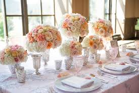 Paper Flower Wedding Centerpieces Blush Peach And Silver Wedding Burnetts Boards