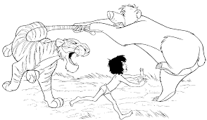 Small Picture Jungle Book Coloring Pages coloringsuitecom