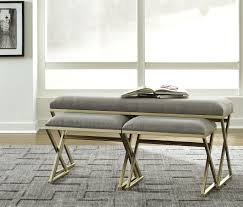 Neutral furniture Neutral Colors Image Wcc Furniture The Emanita Neutral Accent Bench Set 3cn Available At Wcc