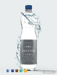 Water Bottles Templates Free Wedding Water Bottle Label Template Download Labels In