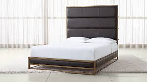 Oxford Leather Bed | Crate and Barrel