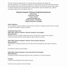 Test Engineer Resume Objective Resume Samples For Engineering Jobs New Image Resume Document Cute