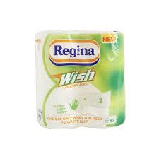 regina wish kitchen towel 2 rolls 2 ply image
